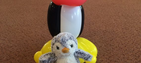 Arnold and the balloon penguin