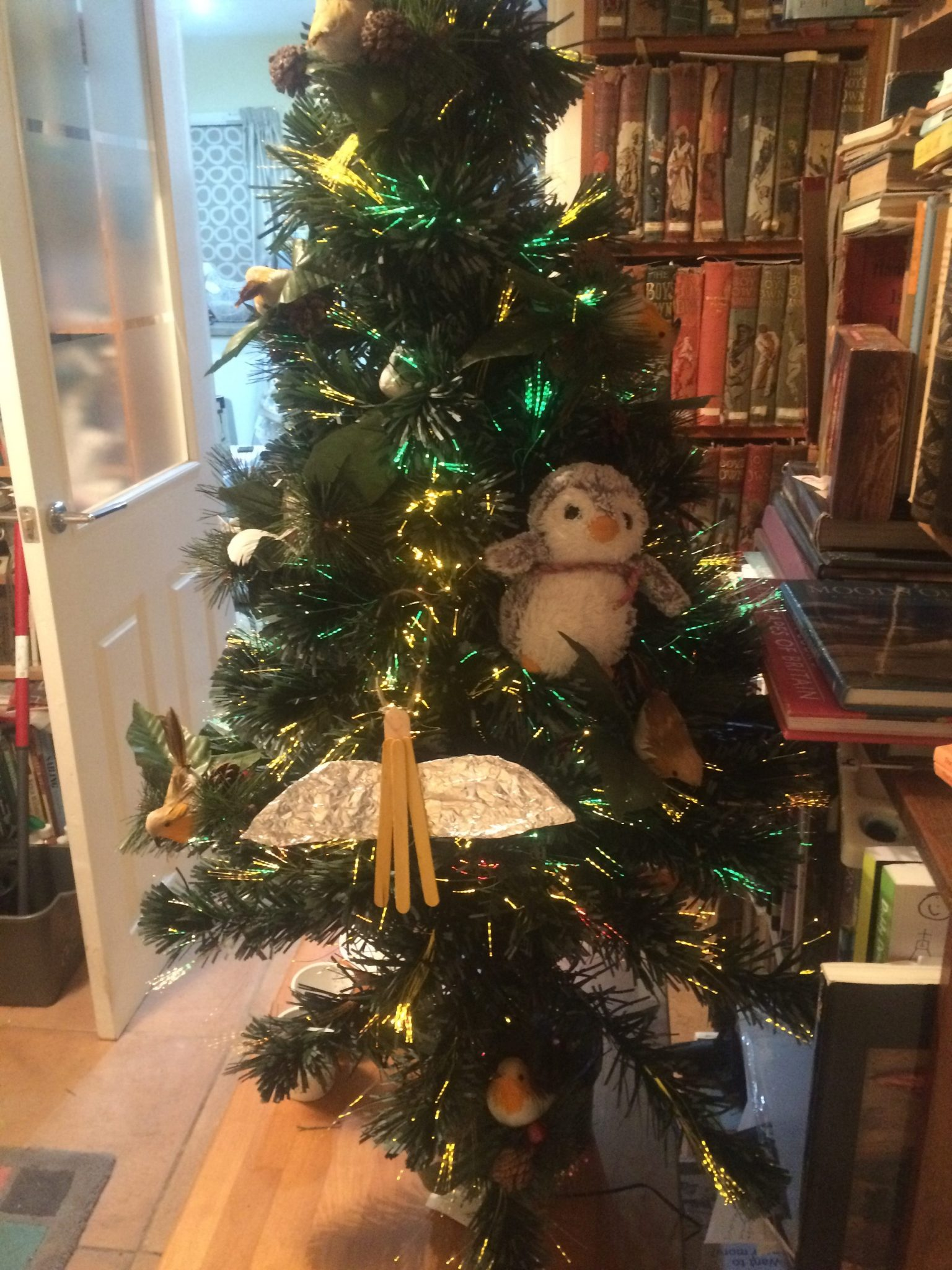 Arnold in Christmas tree