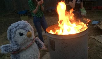 Arnold and bonfire