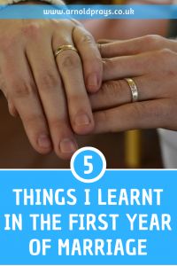 5 things I learnt in the first year of marriage