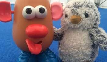 Arnold and Mr Potato Head