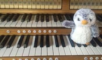 Arnold on the organ