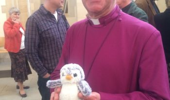 Arnold with the Bishop of Portsmouth