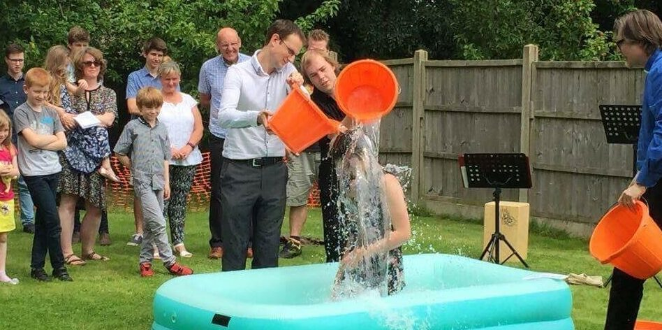 Jenny getting baptised