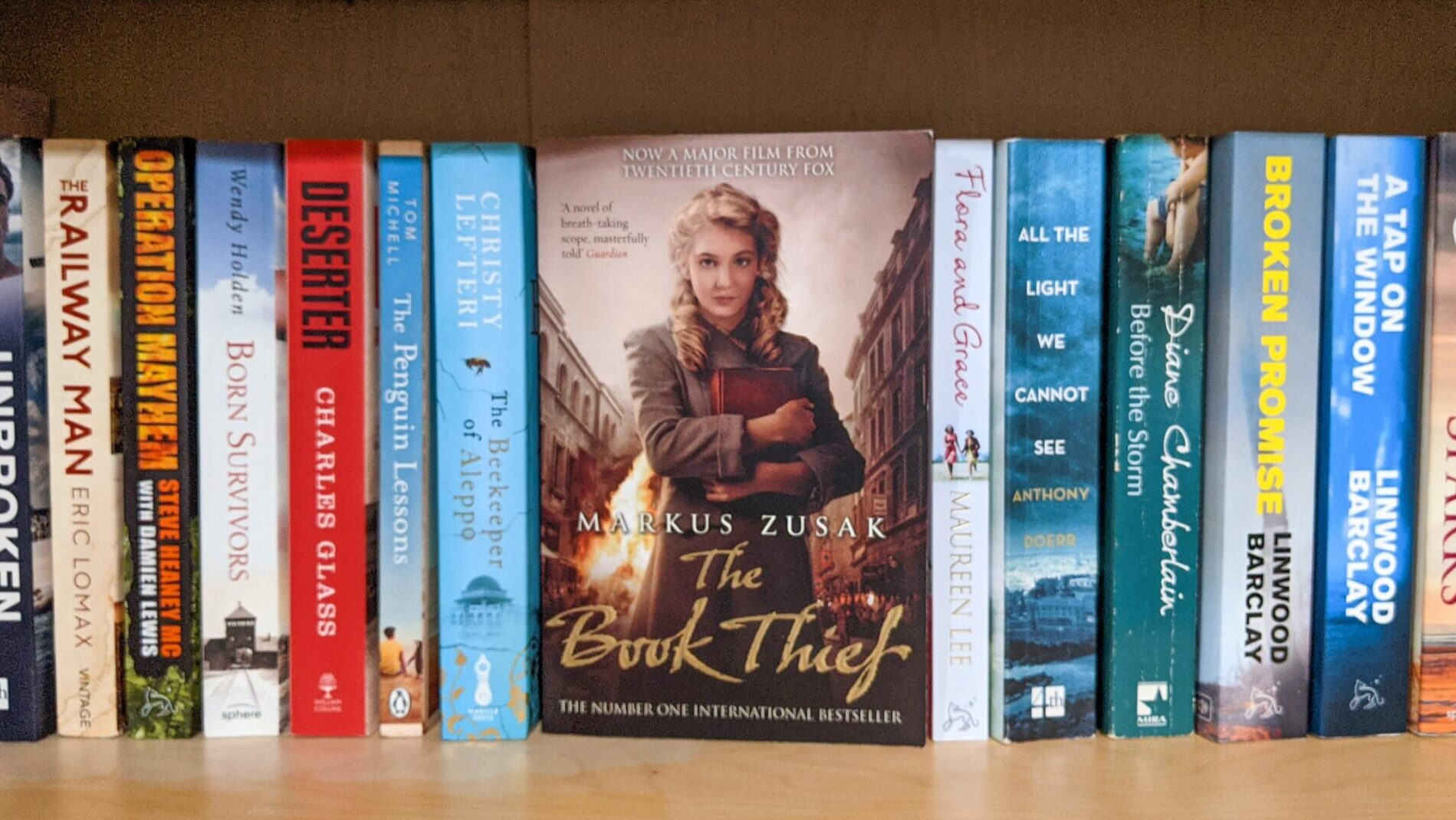 Bookshelves featuring The Book Thief