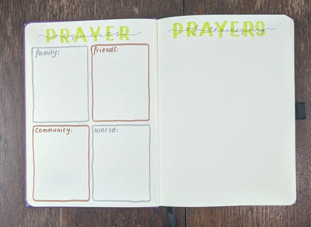 Prayer Requests and Thanksgiving Spreads